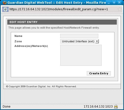 Edit Host Entry