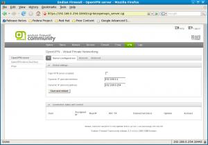 OpenVPN Server page