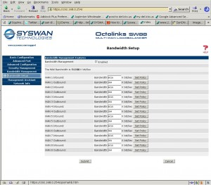 Bandwidth Management on SW88