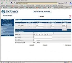 Configuring remote System Logging