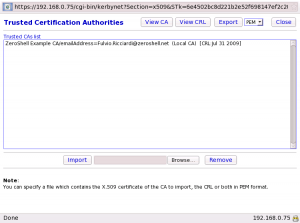 Trusted Certificate Authorities