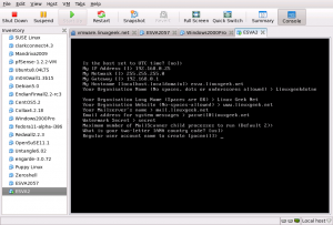 create inital user account